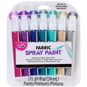 Metallic - Tulip Fabric Mini Spray Paint Kit