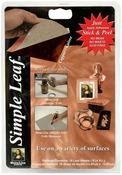 "Copper - Simple Leaf Leafing Sheets 5.5""X5.5"" 18/Pkg"