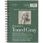 """Gray 80lb 50 Sheets - Strathmore Toned Sketch Book 5.5""""X8.5"""""""