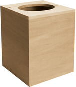 "5.12""X6.12""X5.12"" - Basswood Boutique Tissue Box"