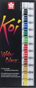 Assorted Colors - Koi Watercolor Paint 12ml 12/Pkg