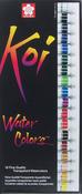 Assorted Colors - Koi Watercolor Paint 12ml 18/Pkg
