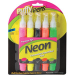 Neon - Puffy Paint Pen Set 5/Pkg