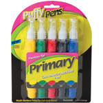 Primary - Puffy Paint Pens 5/Pkg