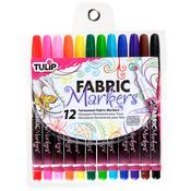 Tulip Fabric Markers 12/Pkg - Fine Tip