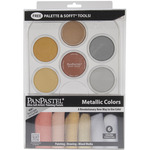 Metallics Kit - Panpastel Ultra Soft Artist Pastels Set 9ml 6/Pkg