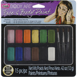 Rainbow - Tulip Body Art Paint Palette 15pc
