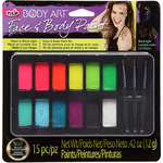 Neon - Tulip Body Art Paint Palette 15pc