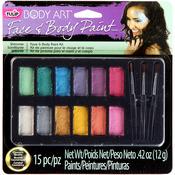 Shimmer - Tulip Body Art Paint Palette 15pc