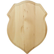 "12""X16"" - Basswood Shield Plaque"