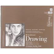"80lb 24 Sheets - Strathmore Drawing Medium Paper Pad 14""X17"""