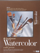 "Cold Press 140lb 12 Sheets - Strathmore Watercolor Paper Pad 18""X24"""