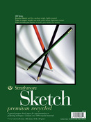 """60lb 100 Sheets - Strathmore Premium Recycled Sketch Book 9""""X12"""""""