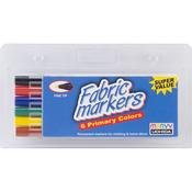 Primary - Fabric Marker Fine Tip 6/Pkg