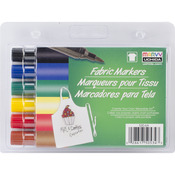 Primary - Fabric Marker Brush Tip 6/Pkg