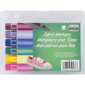 Bright - Fabric Marker Brush Tip 6/Pkg