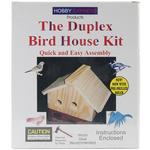 Duplex Bird House - Unfinished Wood Kit