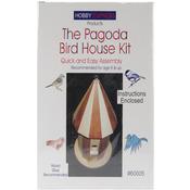 Pagoda Bird House - Unfinished Wood Kit