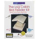 Log Cabin Bird Feeder - Unfinished Wood Kit
