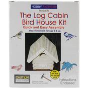 Log Cabin Bird House - Unfinished Wood Kit