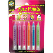 Brilliant - Face Paint Push Up Crayons 6/Pkg