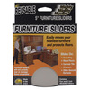 5  Round 4/Pkg - Mighty Movers Reusable Furniture Sliders MASTER MANUFACTURING-Mighty Movers Furniture Sliders.  Easily moves your heaviest furniture and appliances and protects floors. These polymer plastic disks work well on smooth surfaces including carpet, tile, wood and linoleum.  Not for outdoor use.  This package contains four 5in sliders.  Made in USA.