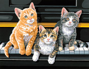 """Musical Trio - Paint By Number Kit 14""""X11"""""""