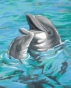 """Dolphin Duo - Paint Works Paint By Number Kit 9""""X12"""""""