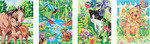"Animal Friends - Pencil Works Color By Number Kit 9""X12"" 4/Pkg"