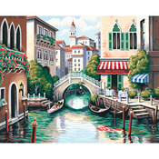 """Scenic Canal - Paint By Number Kit 20""""X16"""""""