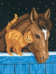 "Pony & Kitten - Paint Works Paint By Number Kit 9""X12"""