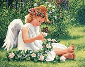 """Darling Angel - Paint By Number Kit 20""""X16"""""""