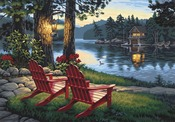 """Adirondack Evening - Paint By Number Kit 20""""X14"""""""