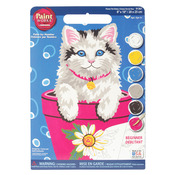 "Flower Pot Kitten - Paint Works Paint By Number Kit 9""X12"""