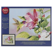 """Hibiscus Hummingbird - Paint By Number Kit 14""""X11"""""""