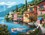 """Lakeside Village - Paint By Number Kit 20""""X16"""""""