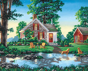 "Summer Cottage - Paint By Number Kit 20""X16"""