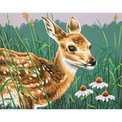 Fawn And Flowers Paint By Number Kit