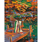 """Golden Pond - Paint By Number Kit 14""""X11"""""""