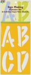 """Sign Making Alphabet 5"""" - Stencil Mania Stencils 7""""X12"""""""