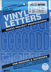 Gothic/Blue - Permanent Adhesive Vinyl Letters and Numbers 3""