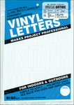 Gothic/White - Permanent Adhesive Vinyl Letters and Numbers 3""