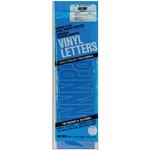 "Gothic/Blue - Permanent Adhesive Vinyl Letters 4"""