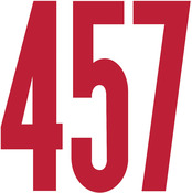 """Gothic/Red - Permanent Adhesive Vinyl Numbers 6"""""""