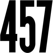"Gothic/Black - Permanent Adhesive Vinyl Numbers 6"""