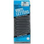 "Gothic/Black - Permanent Adhesive Vinyl Letters 6"""