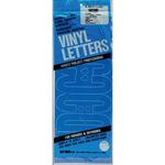 "Gothic/Blue - Permanent Adhesive Vinyl Letters 6"""