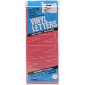 """Red - Permanent Adhesive Vinyl Letters 6"""""""