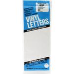 "White - Permanent Adhesive Vinyl Letters 6"""