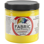 Yellow - Fabric Screen Printing Ink 8oz